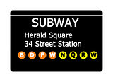 Herald Square subway sign