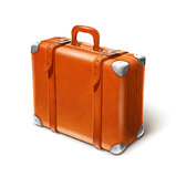 leather big suitcase