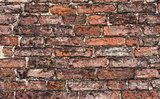 close up of old brick wall