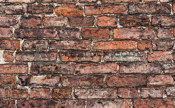 close up of old brick wall