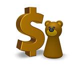 dollar and bear