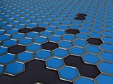 mosaic of hexagons