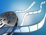 movie reel and filmstrips