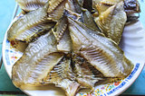 The Dried salted damsel fish