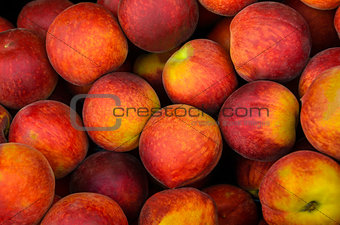 Fresh colorful peaches