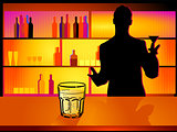 nightclub and barman