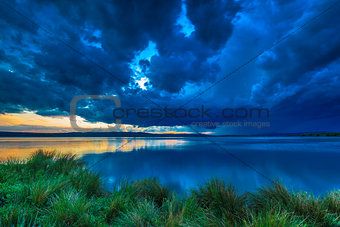 Dark storm clouds