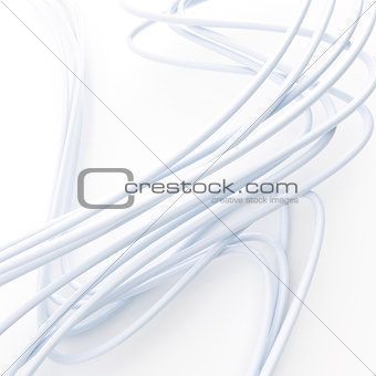 bright fibre-optical cables on a white background