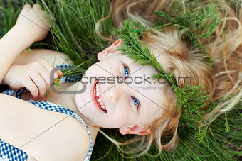 happy small girl