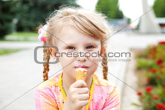 girl eating icecream