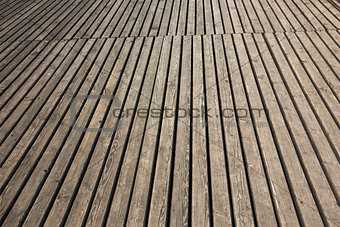 old wooden terrace