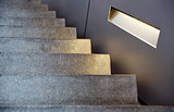 minimalism style stairs with lighting