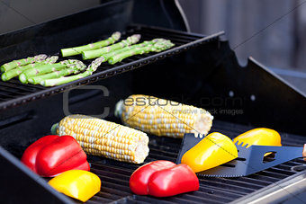 vegetables ready for grilling