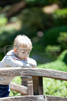 sad child outdoors