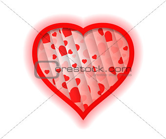Abstract Background With Red Heart Shape