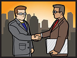 Businessmans Shake Hands
