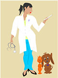 black woman veterinarian
