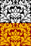 Beautiful seamless pattern in retro damask floral style