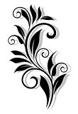 Retro floral elelement