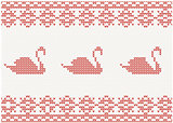 knitted pattern with swan