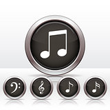 Set buttons with music note icon