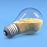 LightBulb with sand