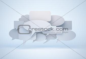 blank speech bubble cloud