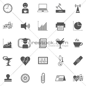 Business Gray Icon Set 005