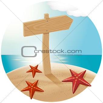 Guidepost At The Sea Beach 02