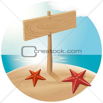 Guidepost At The Sea Beach 03