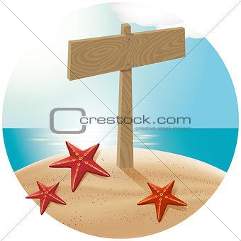 Guidepost At The Sea Beach 04