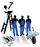 builder, painter and blue-collar worker