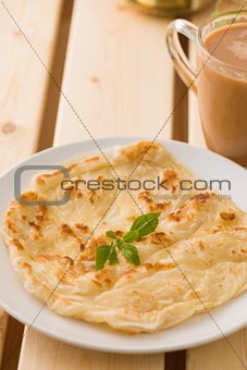chapati traditional indian food with traditional items on backgr