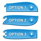 Three blue options