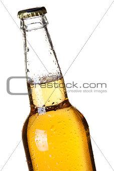 Closeup beer bottle