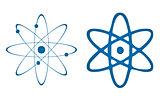Atom on white background