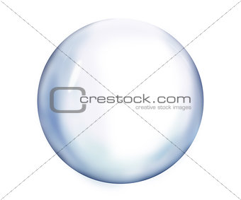 Bubble against white background