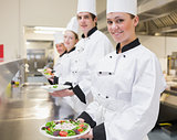 Happy Chef's showing their salads