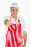 Happy butcher giving thumbs up