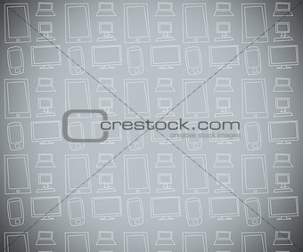 Grey background with electronics