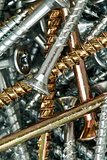Golden and silver screws