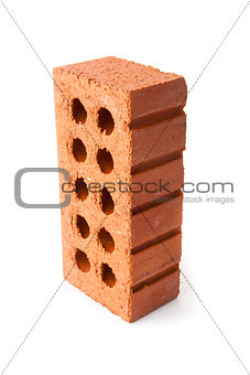 Standing clay brick with ten holes