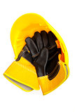 builder's gloves in a hard hat