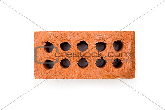 Clay brick with ten holes
