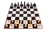 Chessboard fully set up