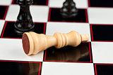 White chessman lying