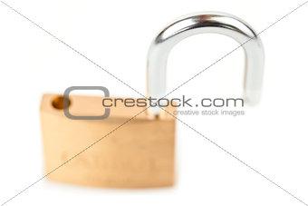 Padlock unlocked