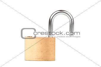 Padlock standing unlocked