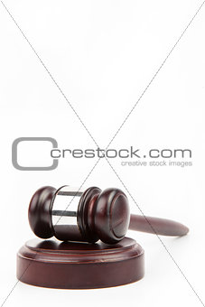 Wooden hammer and gavel