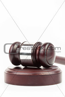 Hammer and gavel close up